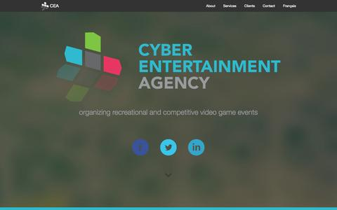 Screenshot of Home Page cea-acd.com - Cyber Entertainment Agency - captured Oct. 3, 2014