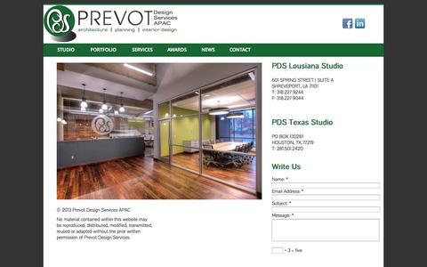 Screenshot of Contact Page prevotdesign.com - Contact - PREVOT Design Services - PREVOT Design Services - captured Oct. 3, 2014
