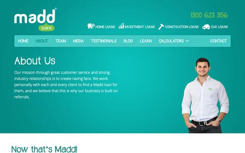 Screenshot of About Page madd.com.au - About   MADD Loans - captured Oct. 20, 2018