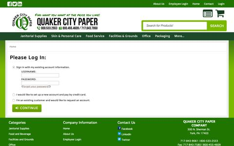 Screenshot of Login Page quakercitypaper.com - Catalog Login - captured Sept. 28, 2018