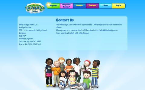 Screenshot of Contact Page littlebridge.com - Contact Us | Little Bridge World - captured Sept. 16, 2014