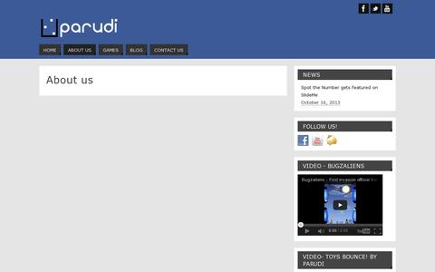 Screenshot of About Page parudi.com - About us | Parudi - captured July 19, 2014