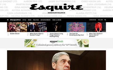 Screenshot of Home Page esquire.com - Esquire - Men's Fashion, Cocktails, Politics, Interviews, and Women - captured Feb. 17, 2018