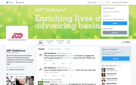 ADP TotalSource (@ADPTotalSource) | Twitter