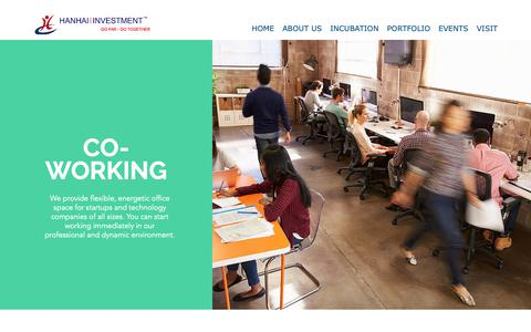 Screenshot of Services Page hanhaiinvestment.com - hanhaiinvestment | CO-WORKING - captured Sept. 27, 2018