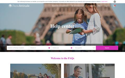 Screenshot of FAQ Page parisattitude.com - Help | Rent furnished accommodation Paris | Paris Attitude - captured July 15, 2018