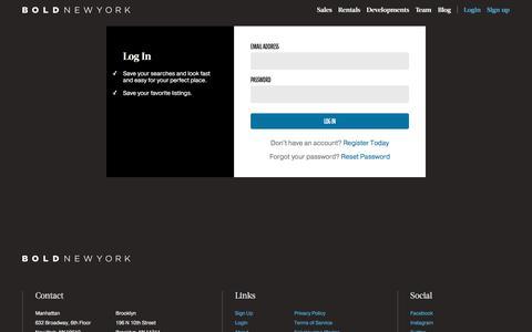 Screenshot of Login Page boldnewyork.com - Bold: Sign-In - captured Aug. 3, 2018