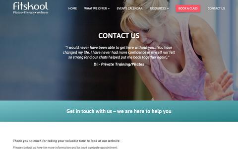 Screenshot of Contact Page fitskool.com - Contact us - Fitskool - captured Oct. 10, 2018
