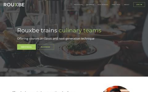Screenshot of Home Page rouxbe.com - Professional Online Culinary School - Rouxbe - captured Feb. 13, 2020