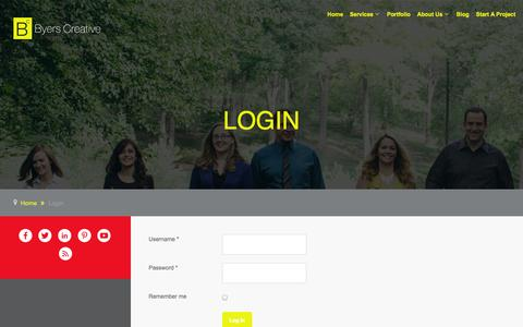 Screenshot of Login Page byerscreative.com - Login - captured Oct. 28, 2014
