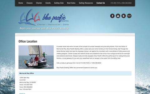 Screenshot of Locations Page bluepacificboating.com - Office Location | Blue Pacific Boating - captured Jan. 6, 2016