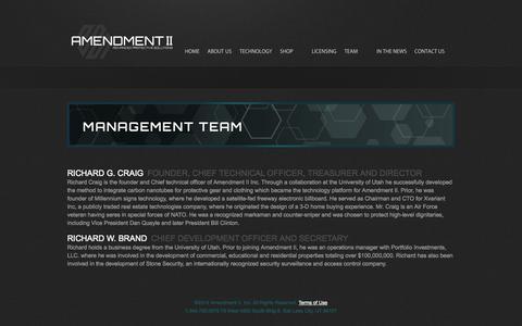 Screenshot of Team Page amendment2.com - MANAGEMENT  |  Amendment 2 - captured Nov. 2, 2014