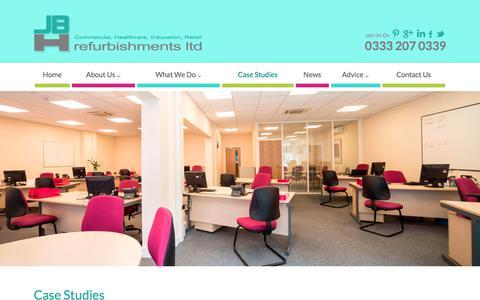 Screenshot of Case Studies Page jbhrefurbishments.co.uk - Case Studies Archive - JBH Refurbishments - captured Sept. 30, 2017