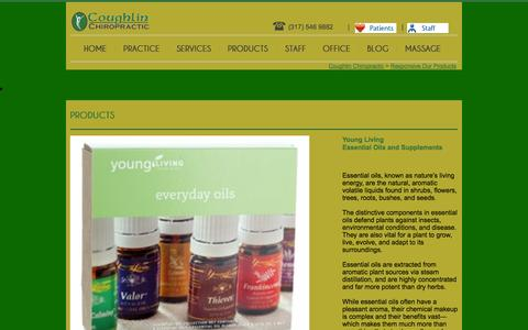 Screenshot of Products Page coughlinchiropractic.com - Responsive Our Products - captured Sept. 30, 2014