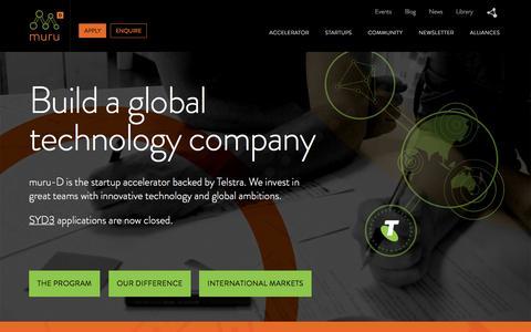 Muru Digital - A Startup Accelerator | muru-D, a global startup accelerator