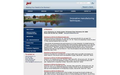 Screenshot of Maps & Directions Page janco-electronics.com - Janco Electronics - captured Oct. 4, 2014