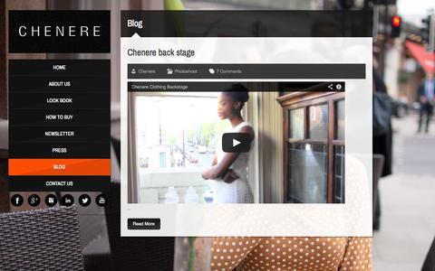 Screenshot of Blog chenere.com - Blog | chenere.com - captured Sept. 26, 2014