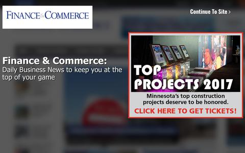 Screenshot of Press Page finance-commerce.com - Welcome - captured July 12, 2018