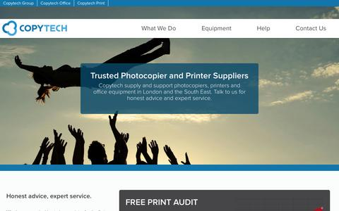 Screenshot of Home Page copytechgroup.co.uk - Trusted Photocopier and Printer Suppliers   Copytech - captured Oct. 3, 2014