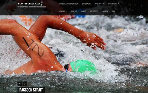 Screenshot of Home Page rcptiburonmile.com - RCP Tiburon Mile - The World's Premier International Open Water Swim! - captured Oct. 14, 2015