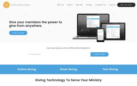 Online Giving & Giving Solutions for Churches | Church Office Online