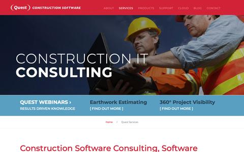 Screenshot of Services Page questconstructionsoftware.com.au - Construction Software Consulting - Construction Technology Consultants - Quest - captured Sept. 30, 2018