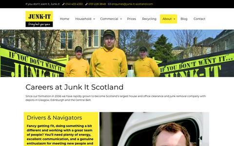 Screenshot of Jobs Page junk-it-scotland.com - Careers | Junk It Scotland - captured Nov. 22, 2017