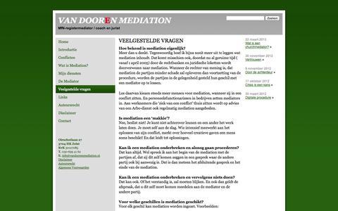 Screenshot of FAQ Page vandoorenmediation.nl - Van Dooren Mediation Veelgestelde vragen - Van Dooren Mediation - captured Oct. 9, 2014