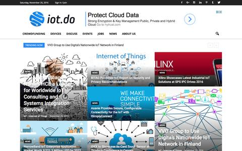 Screenshot of Home Page iot.do - IoT - Internet of Things - captured Nov. 26, 2016