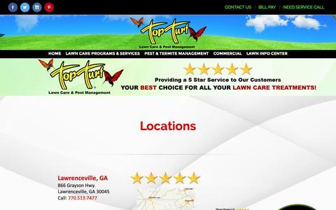 Screenshot of Locations Page topturf.net - 01-Locations2 – Top Turf - captured Dec. 15, 2016