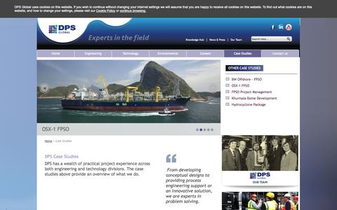 Screenshot of Case Studies Page dps-global.com - Case Studies - DPS Global - captured Oct. 5, 2014