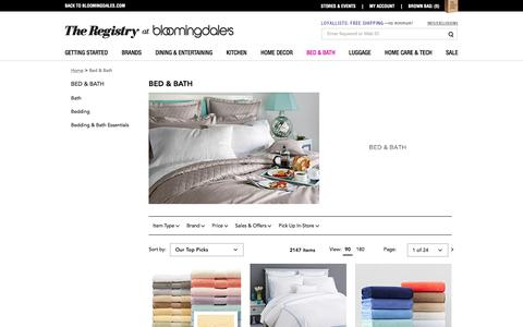 Bed and Bath Products - Bloomingdale's Wedding and Gift Registry