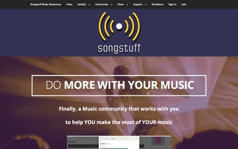 Screenshot of Signup Page songstuff.com - join - Songstuff - captured Sept. 23, 2018