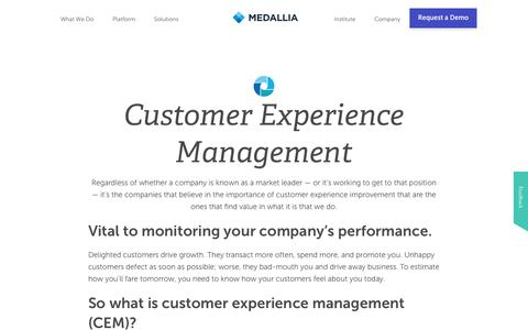 Customer Experience Management | Medallia