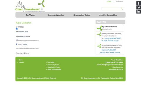 Screenshot of Contact Page mygreeninvestment.com - Contact - My Green Investment - captured Sept. 26, 2014