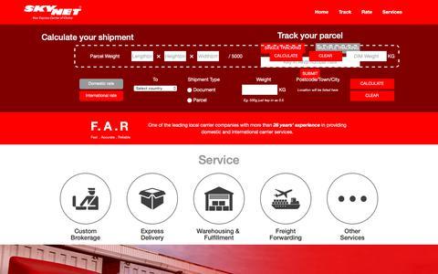 Screenshot of Home Page skynet.com.my - Skynet | Express Carrier of Choice - captured Dec. 12, 2018