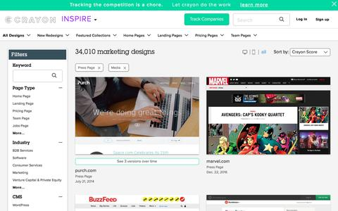 Screenshot of Press Page crayon.co - Media Press Pages | Website Inspiration and Examples | Crayon - captured Feb. 2, 2018