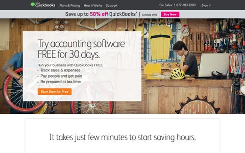 Screenshot of Trial Page intuit.com - Try for free Accounting Software for small business - captured Dec. 5, 2017