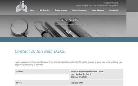 Screenshot of Contact Page Maps & Directions Page ianbelldds.com - D. Ian Bell, D.D.S. - Contact Us - Bellevue, WA - Contact - Dentist Bellevue WA - captured Feb. 4, 2016