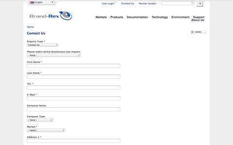 Screenshot of Contact Page brand-rex.com - Contact Us | Brand-Rex Ltd. - captured Oct. 29, 2014