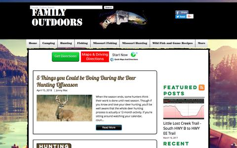 Screenshot of Blog family-outdoors.com - Family Outdoors Blog | Family-Outdoors - captured Aug. 12, 2018