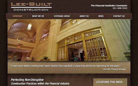 Screenshot of Home Page leebuilt.com - Lee-Built Contruction - captured Jan. 23, 2015