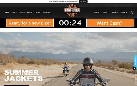 Screenshot of Home Page nycharleydavidson.com - Harley-Davidson of New York City - Homepage - captured Aug. 15, 2019