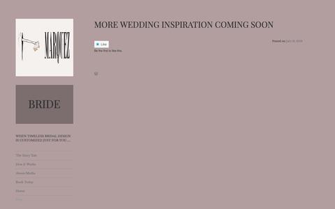 Screenshot of Blog marqueznyc.com - Blog – bride - captured Oct. 1, 2018