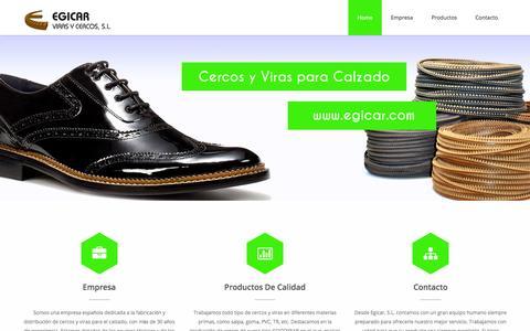 Screenshot of Home Page egicar.com - Fabrica de cercos y viras para calzado   Egicar, Viras y Cercos - captured Oct. 2, 2014