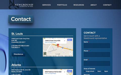 Screenshot of Contact Page newground.com - Contact | Welcome to NewGround - captured Nov. 3, 2014
