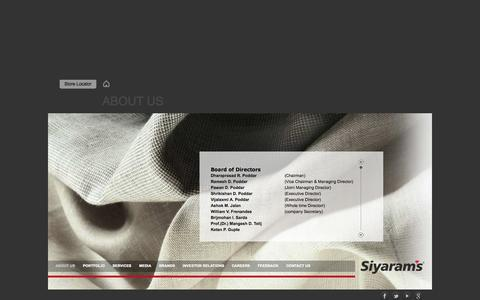 Screenshot of Team Page siyaram.com - Siyaram Management - captured Sept. 23, 2014