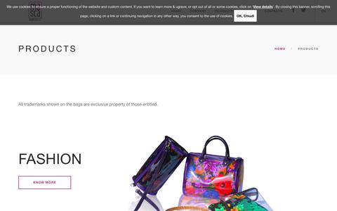 Screenshot of Products Page mascapb.com - Products | Masca - captured Nov. 9, 2018