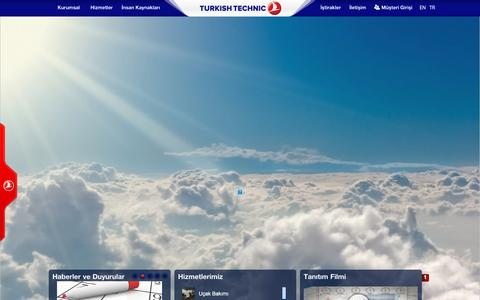 Screenshot of Home Page thyteknik.com - Turkish Technic - captured Jan. 22, 2016