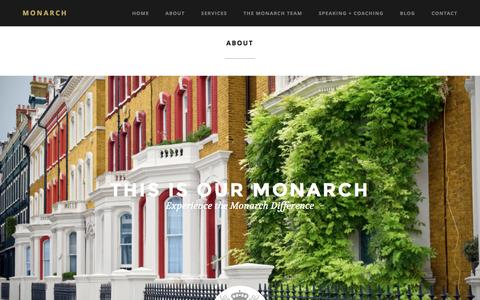 Screenshot of About Page monarchrealestateconcierge.com - About | Monarch Estates Real Estate Concierge™ - captured Dec. 8, 2015